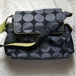 Oioi Australia diaper bag for green black grey